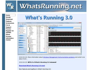http://www.whatsrunning.net/whatsrunning/main.aspx