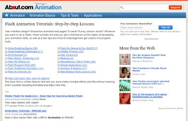 http://animation.about.com/od/flashanimationtutorials/Flash_Animation_Tutorials_StepbyStep_Lessons.htm
