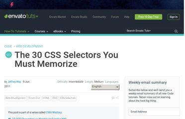 http://net.tutsplus.com/tutorials/html-css-techniques/the-30-css-selectors-you-must-memorize/
