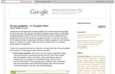 http://googleenterprise.blogspot.com/2009/03/go-go-gadgetsin-google-sites.html