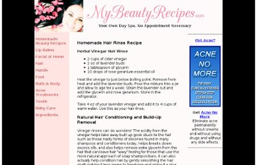http://mybeautyrecipes.com/hair_rinse.html