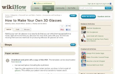 http://www.wikihow.com/Make-Your-Own-3D-Glasses