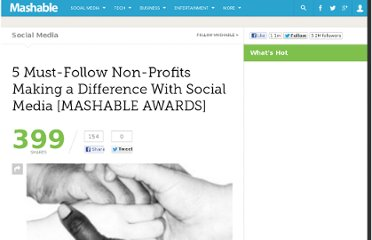 http://mashable.com/2010/11/05/must-follow-non-profits/