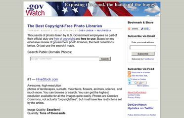 http://www.dotgovwatch.com/?/archives/8-The-Best-Copyright-Free-Photo-Libraries.html