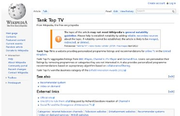 http://en.wikipedia.org/wiki/Tank_Top_TV