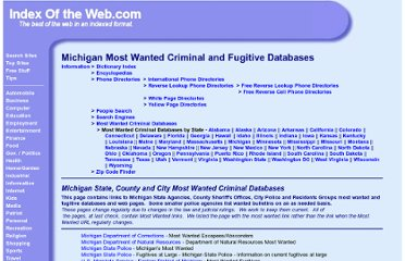 http://www.indexoftheweb.com/Information/Michigan_Wanted_Criminal_Databases.htm