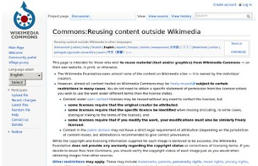 http://commons.wikimedia.org/wiki/Commons:Reusing_content_outside_Wikimedia