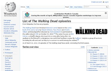 http://en.wikipedia.org/wiki/List_of_The_Walking_Dead_episodes