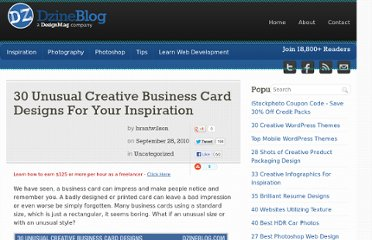 http://dzineblog.com/2010/09/30-unusual-creative-business-card-designs-for-your-inspiration.html