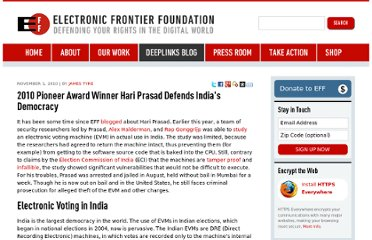 https://www.eff.org/deeplinks/2010/11/2010-pioneer-award-winner-hari-prasad-defends