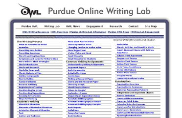 http://owl.english.purdue.edu/sitemap/