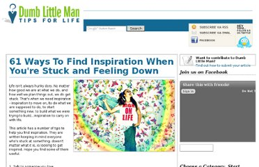 http://www.dumblittleman.com/2010/09/61-ways-to-find-inspiration-when-youre.html