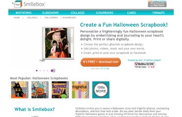 http://www.smilebox.com/halloween-scrapbooks.html