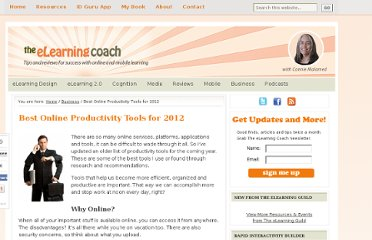 http://theelearningcoach.com/business/online-tools-for-productivity/