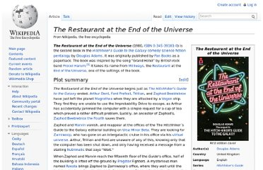 http://en.wikipedia.org/wiki/The_Restaurant_at_the_End_of_the_Universe