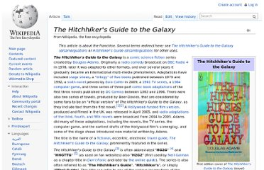 http://en.wikipedia.org/wiki/The_Hitchhiker%27s_Guide_to_the_Galaxy