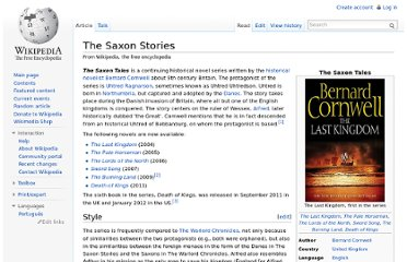http://en.wikipedia.org/wiki/The_Saxon_Stories