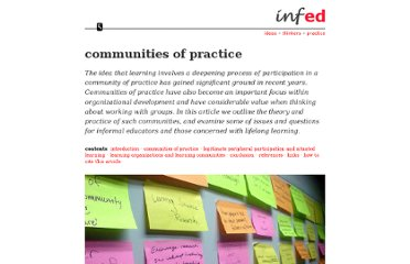 http://www.infed.org/biblio/communities_of_practice.htm
