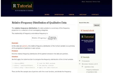http://www.r-tutor.com/elementary-statistics/qualitative-data/relative-frequency-distribution-qualitative-data