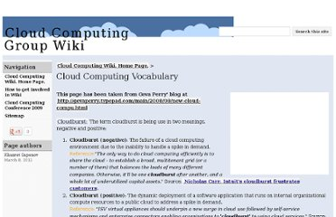 http://sites.google.com/site/cloudcomputingwiki/Home/cloud-computing-vocabulary