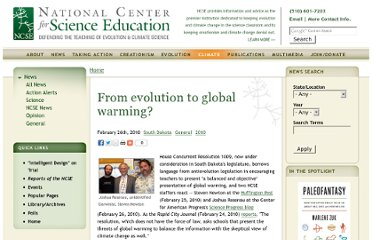 http://ncse.com/news/2010/02/from-evolution-to-global-warming-005344