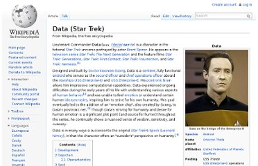 http://en.wikipedia.org/wiki/Data_(Star_Trek)