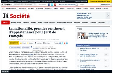 http://www.lemonde.fr/societe/article/2009/11/23/l-identite-nationale-premier-sentiment-d-appartenance-pour-38-de-francais_1271098_3224.html#xtor=RSS-3208