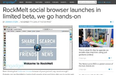 http://www.engadget.com/2010/11/07/rockmelt-social-browser-launches-in-limited-beta-we-go-hands-on/