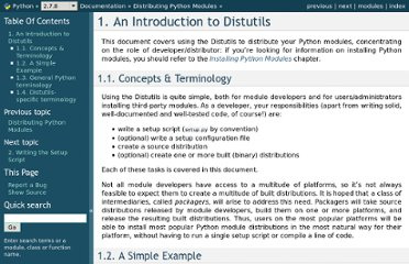 http://docs.python.org/distutils/introduction.html