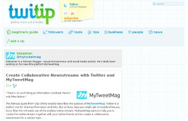 http://www.twitip.com/create-collaborative-newsstreams-with-twitter-and-mytweetmag/