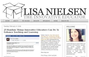 http://theinnovativeeducator.blogspot.com/2009/02/25-random-things-innovative-educators.html