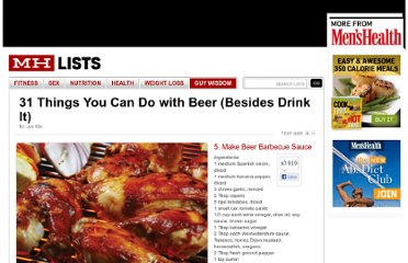 http://www.menshealth.com/mhlists/things-to-do-with-beer/make-beer-barbecue-sauce.php