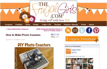 http://thefrugalgirls.com/2010/11/how-to-make-photo-coasters.html