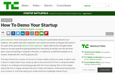 http://techcrunch.com/2008/08/09/how-to-demo-your-startup/
