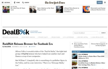 http://dealbook.nytimes.com/2010/11/08/rockmelt-unveils-web-browser-for-facebook-era/