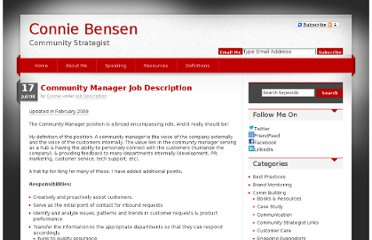 http://conniebensen.com/2008/07/17/community-manager-job-description/