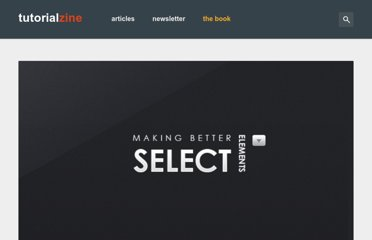 http://tutorialzine.com/2010/11/better-select-jquery-css3/