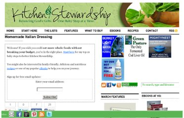 http://www.kitchenstewardship.com/recipes/homemade-italian-dressing/
