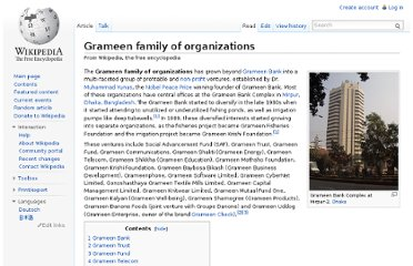 http://en.wikipedia.org/wiki/Grameen_family_of_organizations