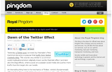 http://royal.pingdom.com/2009/02/03/dawn-of-the-twitter-effect/