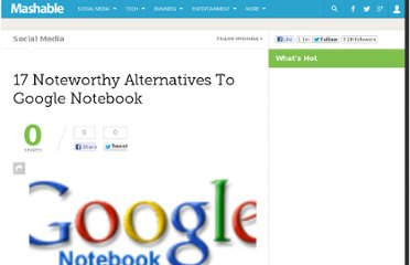 http://mashable.com/2009/01/25/notetaking-alternatives/