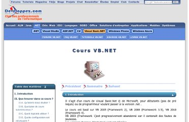 http://plasserre.developpez.com/cours/vb-net/?page=introduction#I