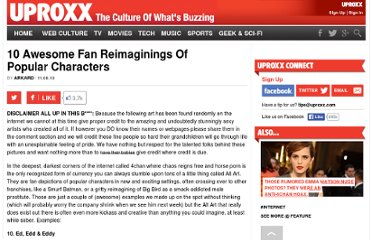 http://www.uproxx.com/feature/2010/11/10-awesome-fan-reimaginings-of-popular-characters/
