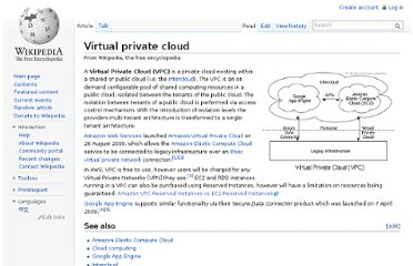 http://en.wikipedia.org/wiki/Virtual_private_cloud