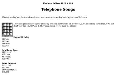 http://www.jlc.net/~useless/telsongs.html
