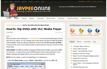 http://jaypeeonline.net/tips-tricks/rip-dvd-with-vlc/