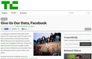 http://techcrunch.com/2010/11/09/give-us-our-data-facebook/