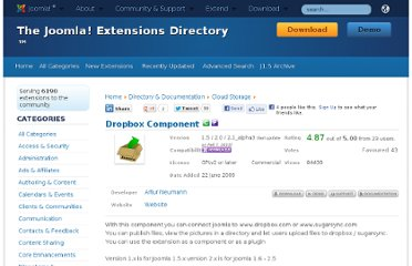 http://extensions.joomla.org/extensions/directory-a-documentation/cloud-storage/8712