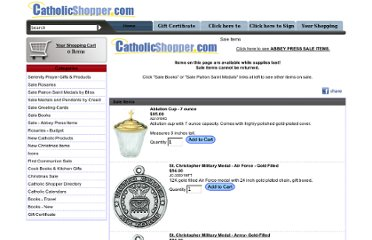 http://www.catholicshopper.com/products/sale_items.html
