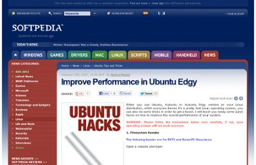 http://news.softpedia.com/news/Improve-Performance-in-Ubuntu-Edgy-47261.shtml